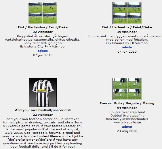 Football/Soccer drill Community
